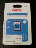 Hamma SD card 2GB, available at The Music Box Shop, Whitchurch, Near Bristol, England, UK.